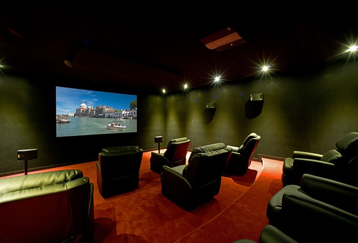 Cinema rooms are common in La Zagaleta