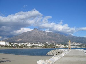 Autumn on the costa del sol is signified by a few clouds