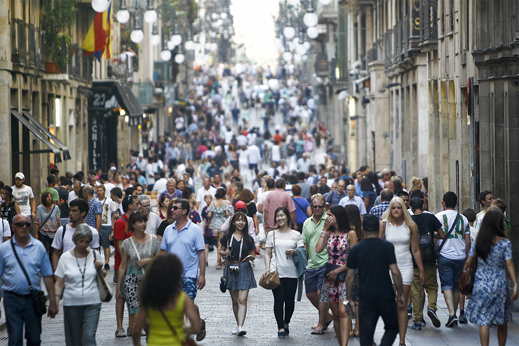 Spanish streets were filled in July